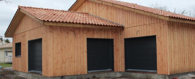 Zoom sur le volet roulant pour maison à ossature en bois