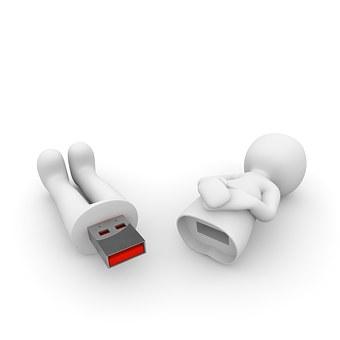 Clé USB publicitaire support amovible pratique