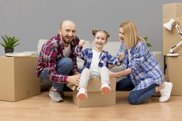 une famille qui va déménager